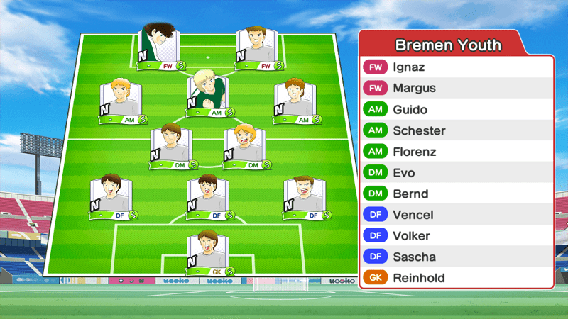 Lineup of Bremen team