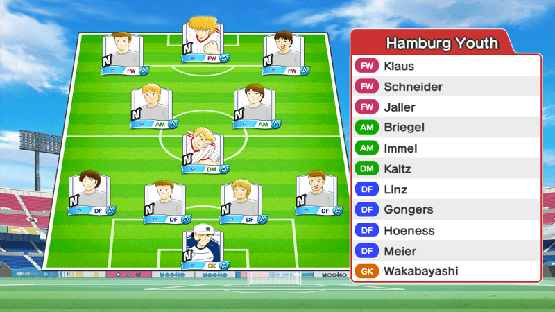 Lineup of Hamburg team