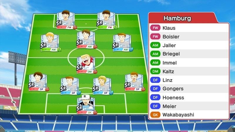 Lineup of Hamburg SV