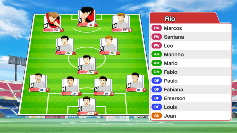 Lineup of Flamengo team