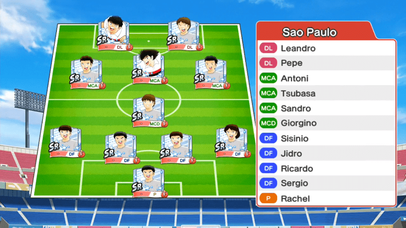 Lineup of Sao Paulo team