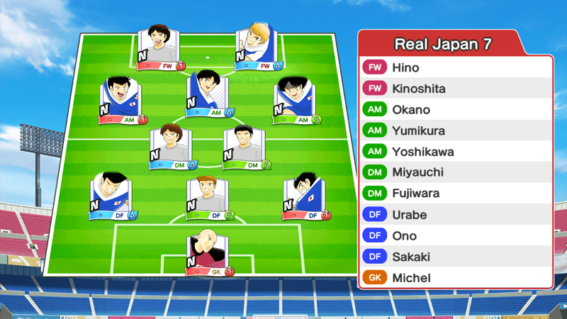 Lineup of Real Japan 7 team
