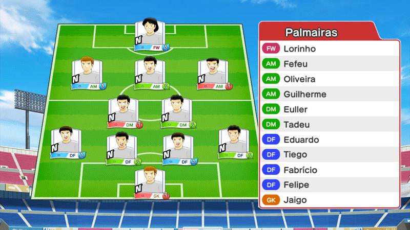 Lineup of Palmeiras