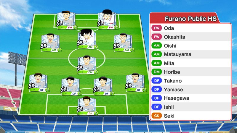 Lineup of Furano High School