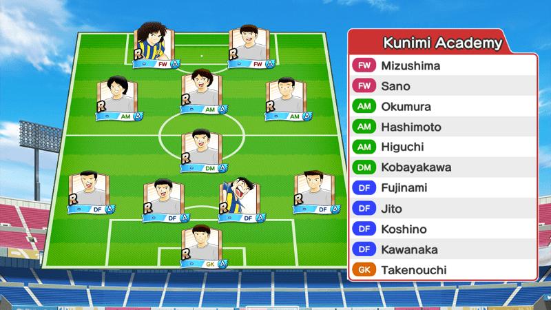 Lineup of Kunimi Academy