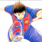 Tsubasa playing for Barcelona