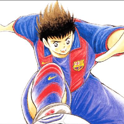 Tsubasa playing for Barcelona