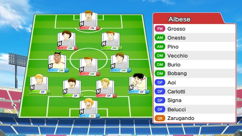 Lineup of FC Albese