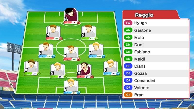Lineup of AC Reggiana