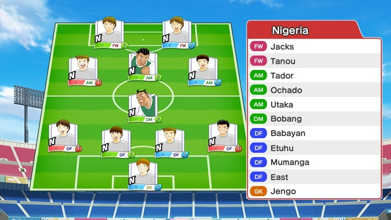Lineup of Nigeria