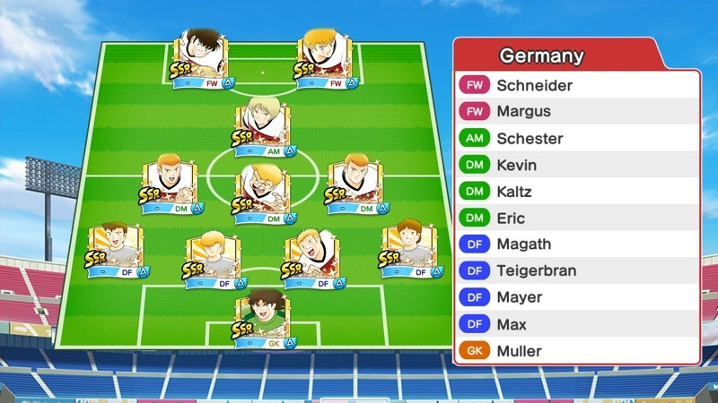 Lineup of Germany Olympic