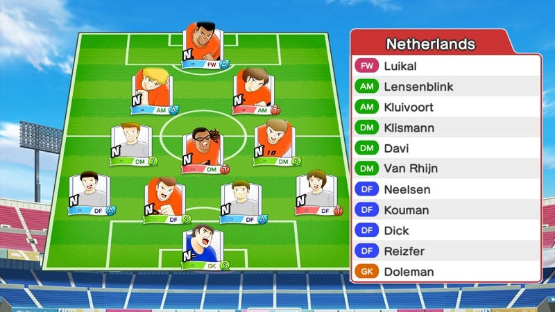 Lineup of Holland Olympic