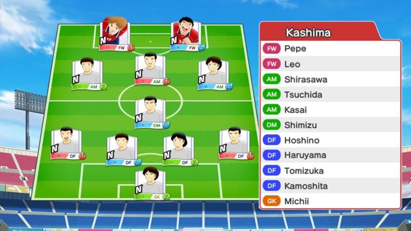Lineup of Kashima Antlers