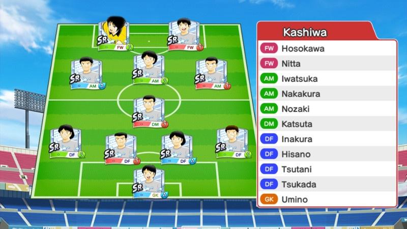 Lineup of Kashiwa Reysol