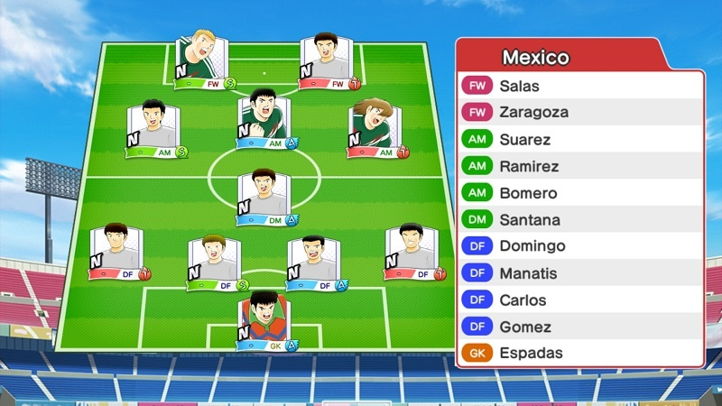 Lineup of Mexico Olympic