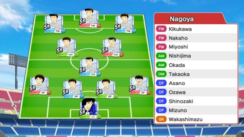 Lineup of Nagoya Grampus