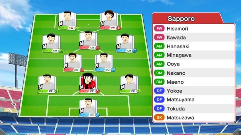 Lineup of Consadole Sapporo